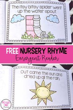 Nursery Rhymes Activities for Kindergarten and Preschool