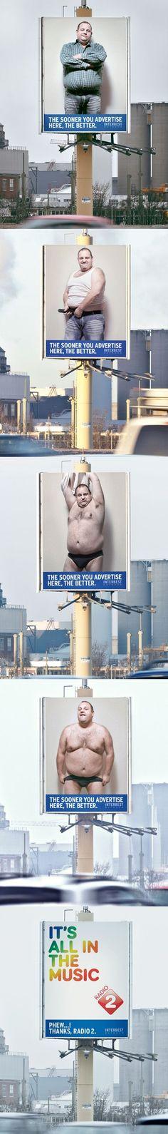 Humorous advertising!