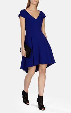 Fluid texture draped dress
