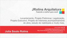 Cartão de Visita - JRolins Arquitetura