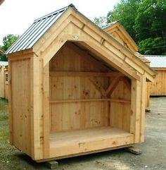 firewood sheds   ... -PLANS-4x8-Saltbox-Woodbin-Storage-Shed-Firewood-Storage-Outdoor-yard