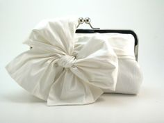 Classic Bow : Snow White Clutch - Bow Clutch. $74.00, via Etsy.