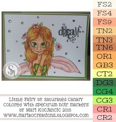 Little Fairy by Saturated Canary colored with Spectrum Noir markers