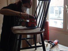 Pensez à vous équiper d'un masque pour vous protéger de la poussière. #DIY #Bricolage