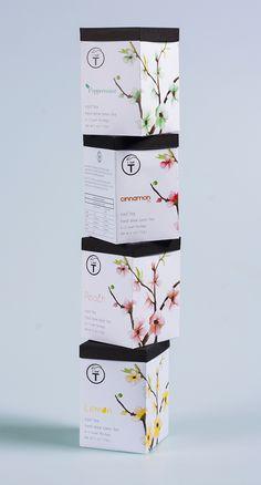 T leaf Tea packaging redesign on Behance