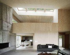 Single Family House By Andreas Fuhrimann Gabrielle Hächler Architects In Zurich Oberland, Switzerland , photo © Valentin Jeck, www.yatzer.com/...