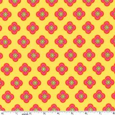 Pillow and Maxfield - Ooh La La - Petite Fleurs in Yellow