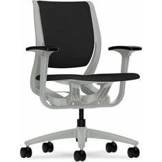 Hon Purpose Upholstered Flexing Task Chair, Black