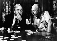 Otto Preminger directs Charles Laughton in Advise and Consent, the great actor´s last film role