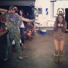 Favorite Halloween costume yet! A hunter and a deer!