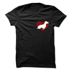 I Love My Dachshunds on Red Heart 2 Tee T-Shirts, Hoodies. BUY IT NOW ==► https://www.sunfrog.com/Pets/I-Love-My-Dachshunds-on-Red-Heart-2-Tee.html?id=41382