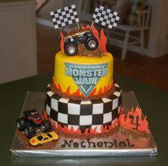Monster Truck on Cake Central Monster Jam Cake, Monster Truck Birthday Cake, Monster Truck Party, Monster Trucks, Monster Truck Cakes, Party Cakes, Cupcake Cakes, Cake Fondant, Cupcakes