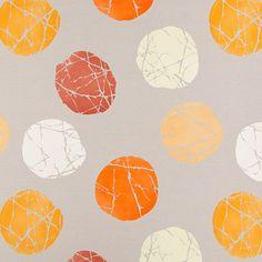 Lumidy 1 - orange - Tissus de décoration - Points - tissus.net
