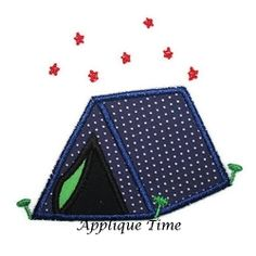 Tent Applique - 3 Sizes! | Camping | Machine Embroidery Designs | SWAKembroidery.com Applique Time