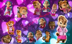 alvin and the chipmunks and the chipettes Las Chipettes, Alvin And Chipmunks Movie, Disney Princesses And Princes, Walt Disney Studios, Anime Art Girl, Brittany, Favorite Color, I Am Awesome, Creatures