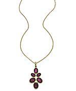 Argento Vivo Faceted Garnet Pendant Necklace