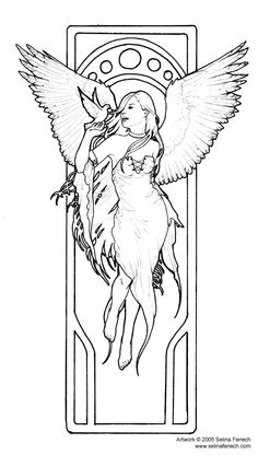 Angel Of Truth Coloring Page