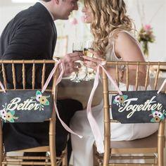 Better Together Signs | Jennifer Rotz Photography | Theknot.com