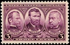 Sherman Grant Sheridan 1937 Issue-3c - Presidents of the United States on U.S. postage stamps - Wikipedia