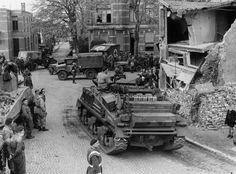 Sherman arv met 10 gepantserde cavalerie brigade met 1ste Poolse Pantserdivisie in Breda. Eind Oktober 1944 jaar.