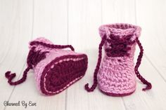 Charmed By Ewe Baby Work Boots Crochet Pattern-2