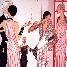 Art Deco Fashion via Allison Winters Art Deco Illustration, Illustrations Vintage, Fashion Illustration Vintage, Fashion Illustrations, Art Nouveau, Art Deco Period, Art Deco Era, Mode Vintage, Vintage Art