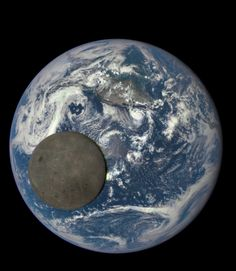 From a million miles away, a camera aboard NASA's DISCOVR spacecraft shows the moon crossing the face of the Earth.