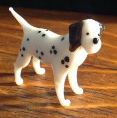 DALMATION dog Hand blown glass Russian glass figure