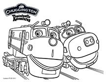 Train Birthday Thomas Chuggington Printable Coloring