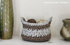 Crochet Basket Pattern || Rescued Paw Designs