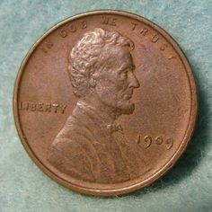 1909 Lincoln Wheat Penny One Cent AU * United States Coin #4098 Pennies, Money Tips, Lincoln, Coins, United States, Personalized Items, Rooms