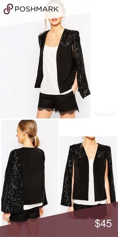 ASOS traffic people sequin cape XL ASOS traffic people sequin cape XL. Excellent condition. Worn once. ASOS Jackets & Coats Capes
