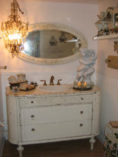 Romantic bathroom sink (from ShabbytownUSA Home Page)