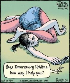 Enthusiastic yogi.