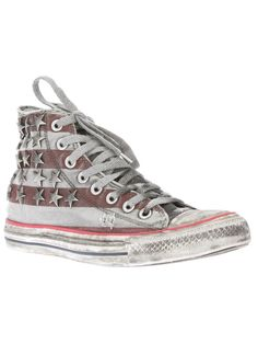 003401afd8c CONVERSE studded lace up trainer Studded Converse, Amerikaanse Vlag,  Oneindigheid
