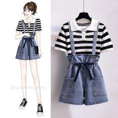 Korean Girl Fashion, Cute Fashion, Daily Fashion, Fashion Outfits, Style Fashion, Cool Outfits, Casual Outfits, Boyish Style, Belted Shirt Dress