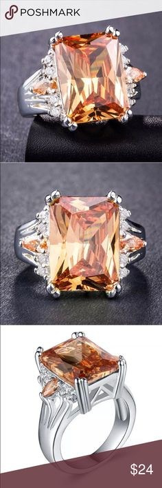 sale retailer 64b87 8a587 Bold   Beautiful Citrine   White Sapphire .925 Approximately 4 carats of  bright Citrine