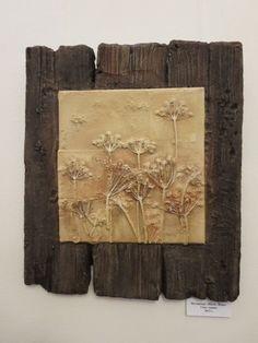 Natural-Art-Elena Vino: Embossed panels Alluré N … – Ceramic Rustic Mixed Media Art, Rustic Wall Art, Diy Wall Art, Diy Art, Wood Art, Collage Nature, Art Et Nature, Deco Nature, Plaster Crafts