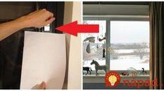 Plastové okná osádza viac ako 20 rokov: Montér poradil jednoduchý trik s hárkom papiera, mal by ho poznať každý, kto chce túto zimu ušetriť na kúrení!