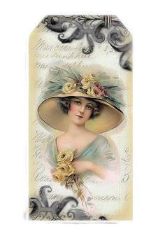 Brocante Brie Vintage Tags, Vintage Labels, Vintage Ephemera, Vintage Postcards, Card Tags, Gift Tags, Card Sentiments, Vintage Crafts, Vintage Artwork