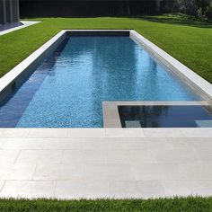 Instagram media by exquisitesurfaces - Tao Gray limestone pool with hot tub in Santa Monica residence.