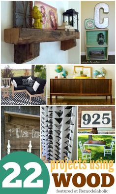 22 Wood-Inspired DIY Projects   October Link Party