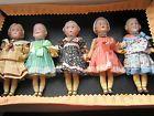 Lot 5 antique bisque dolls/Emma/Baby Stuart/Heubach-square mark-sample box