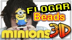 MINION 3D - DIY- Tutorial Pearl/Hama Beads para Gamers - FloGar o.O