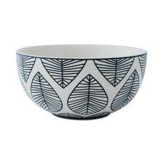 Bowl - Design Leaf Black   AspegrenAspegren