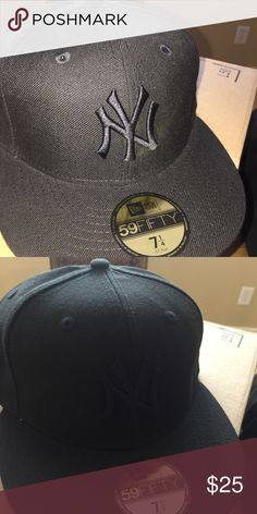 216aa18eccc New York Yankees 59Fifty fitted Hat New York Yankees 59Fifty fitted hat.  All black MLB
