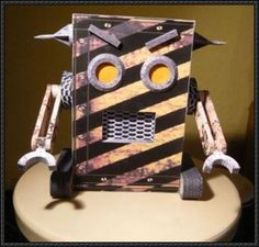 Industrial Robo Paper Model Free Template Download - http://www.papercraftsquare.com/industrial-robo-paper-model-free-template-download.html