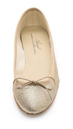 glitter ballet flats / anniel