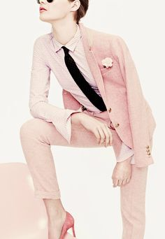 Pink menswear from J Crew