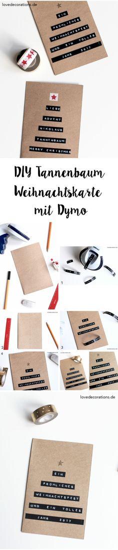 DIY Tannenbaum Weihnachtskarte mit Dymo | DIY Christmas Tree Card with Dymo                                                                                                                                                                                 Mehr